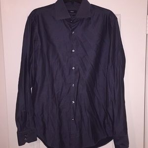 Hugo Boss Button Up Grey Long Sleeve. Sz L.